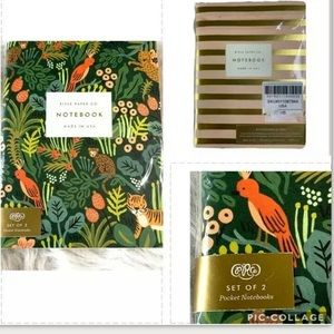 NEW Rifle Paper Co Set of 2 Notepads Floral Stripe